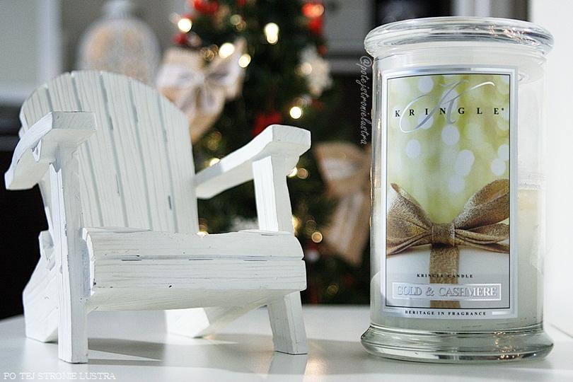 duża świeca zapachowa kringle candle gold & cashmere