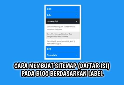 Cara Membuat Sitemap (Daftar Isi) Pada Blog Berdasarkan Label