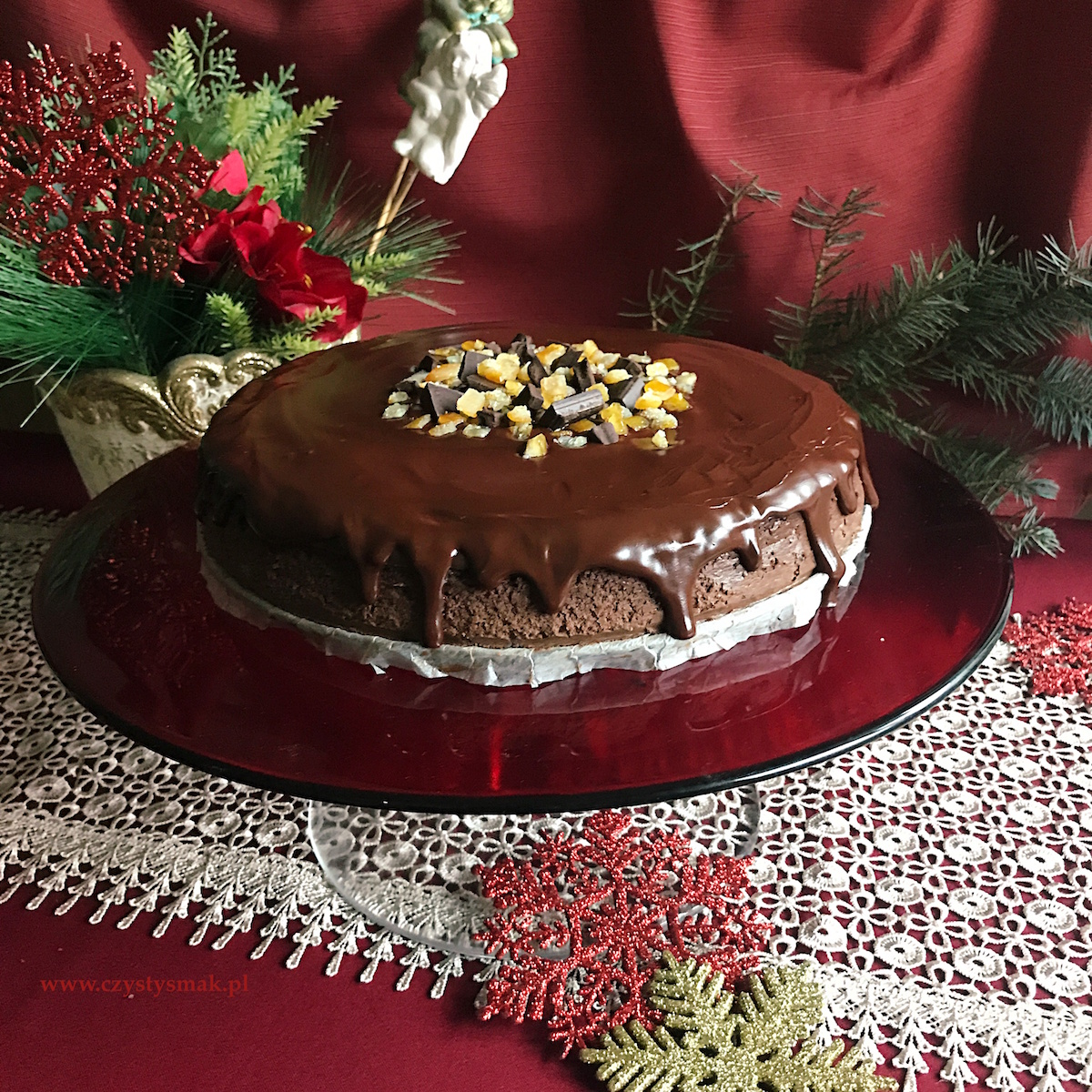 Obłędnie czekoladowy sernik świąteczny