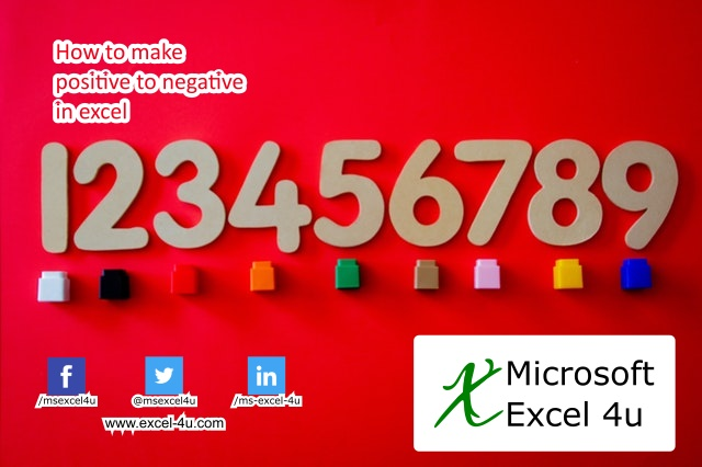 How to make positive to negative in excel