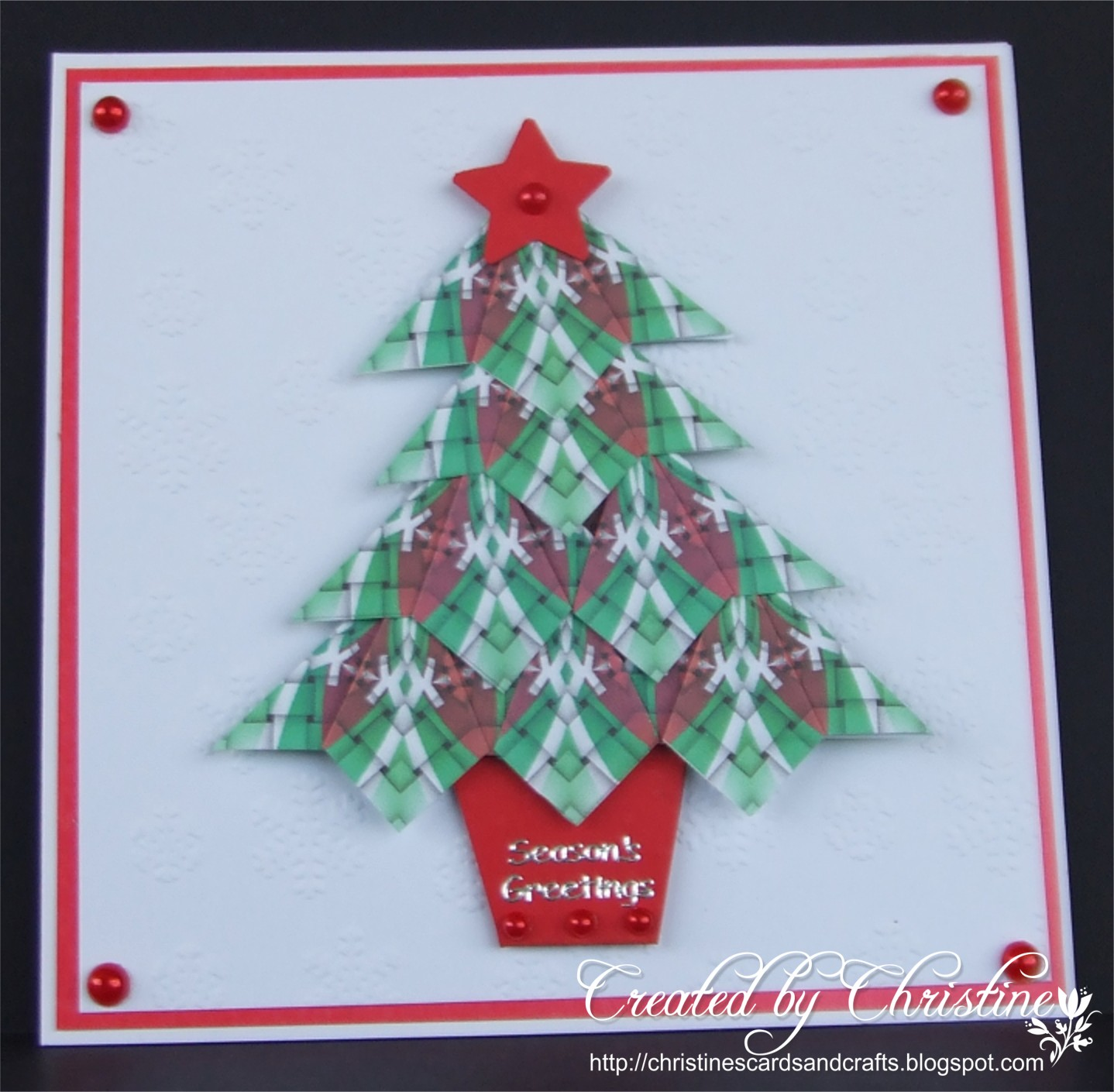 Christine 39 s cards and crafts christmas card club for How to make folded christmas cards
