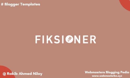 Fiksioner v3 blogger template by Igniel