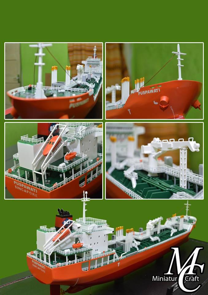 harga souvenir maket miniatur kapal tanker mt puspawati mid fighter pt pertamina rumpun art work planet kapal indonesia termurah