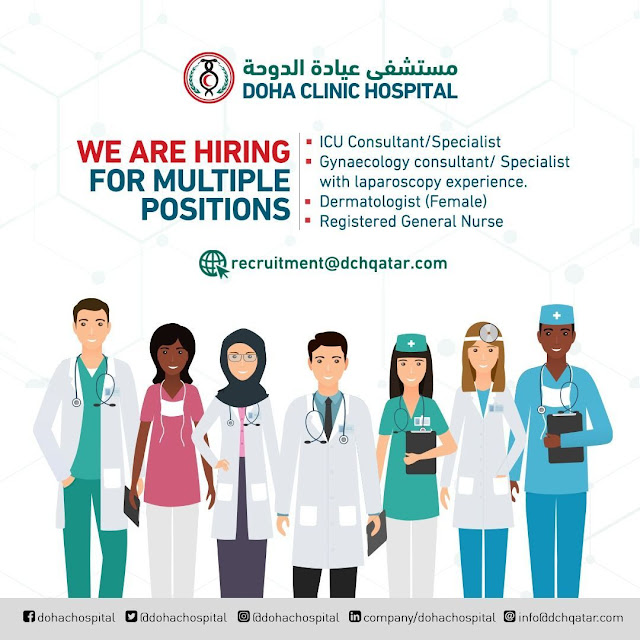 Qatar Jobs, Medical Jobs, Nursing Jobs, ICU Consultant, Gynaecology Consultant, Dermatologist, General Nurse, Registered Nurse