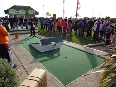 Playing in the World Crazy Golf Championships in Hastings