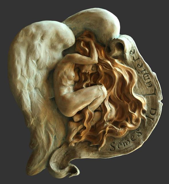 #sèmes la lumière#sculpture#ceramique#ange#angel#angelo#Emmanuel Sellier#artiste#sculpteur
