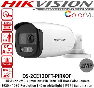 CCTV HIKVISION DS-2CE12DFT-PIRXOF 3.6mm