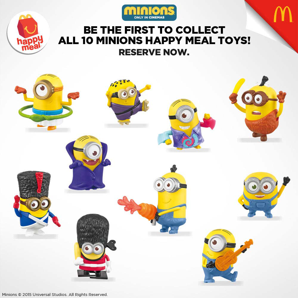 Minions toys in McDonalds Happy Meal - pre-order details ...