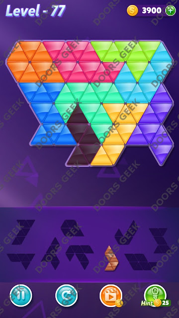 Block! Triangle Puzzle Proficient Level 77 Solution, Cheats, Walkthrough for Android, iPhone, iPad and iPod