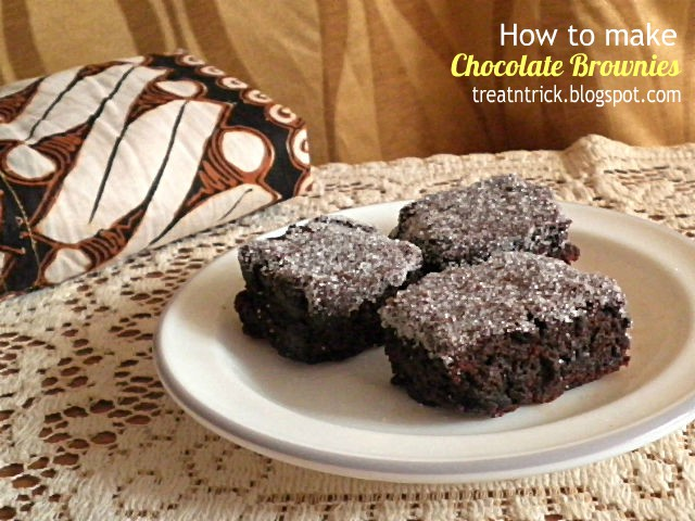 How to make Chocolate Brownies Recipe @ treatntrick.blogspot.com