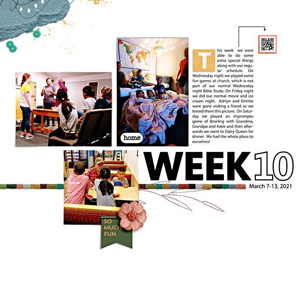 Week 10 - Digital Scrapbook Page