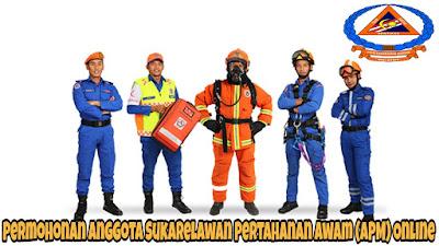 Permohonan Anggota Sukarelawan Pertahanan Awam (APM) Online