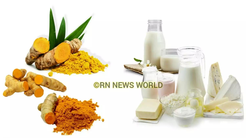 Turmeric milk for skin whitening