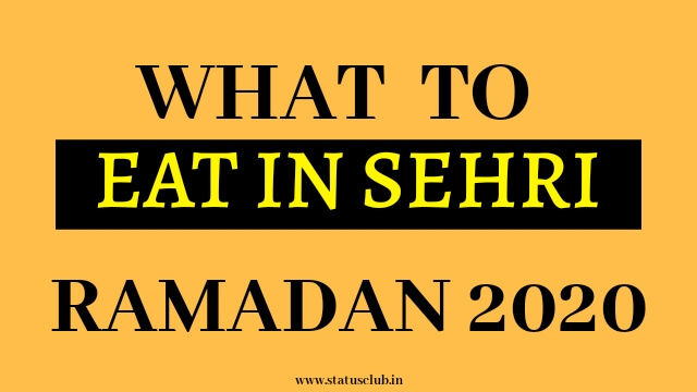 What to Eat in Sehri of Ramadan 2020 | Sehri Healthy Foods