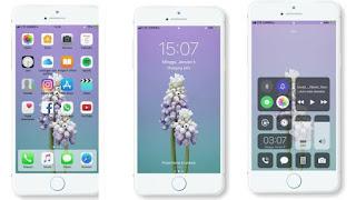 Koleksi Tema Oppo Smartphone, Tema iPhone 8 Purewhite untuk Oppo