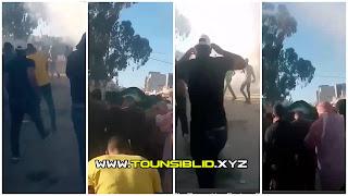 (بالفيديو) تشييع جنازة المغفور له عبد الرزاق الخشناوي تحت القنابل المسيلة للدموع !!