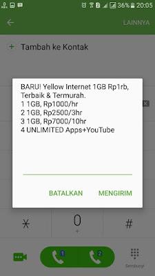 Paket Internet Murah Indosat 1000 dapat 1 GB