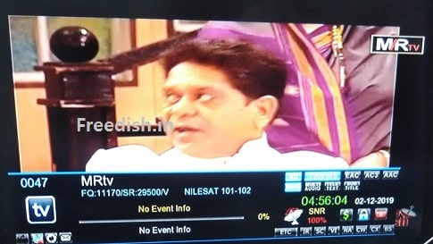 MR TV Marathi TV channel, Frequency, DD Freedish