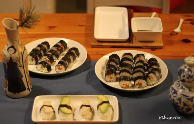 vege kasvis sushi