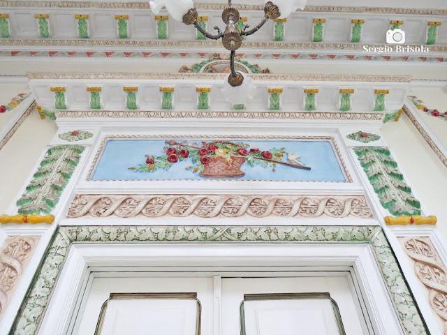 Palacete Basílio Jafet (frontão e rodateto do piso superior)