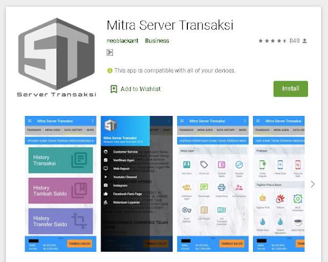 download mitra server transaksi