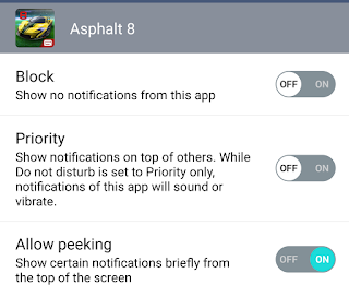 Turning off or blocking notifications from Asphalt - Android