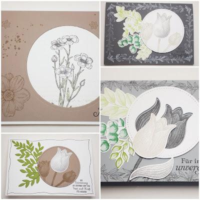 """Trauerkarten mit """"Ewige Zweige"""", Tulpen und Wiesenblumen Stampin' Up! www.eris-kreativwerkstatt.blogspot.de"""