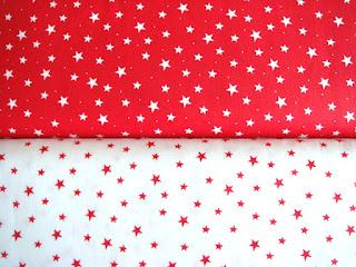 Bavlnené vianočné látky hviezdy