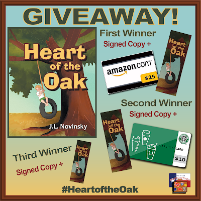 Heart of the Oak giveaway graphic