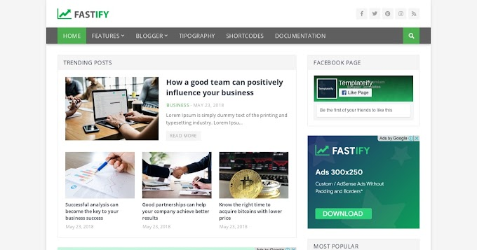 Review tentang Fastify Blogger Template