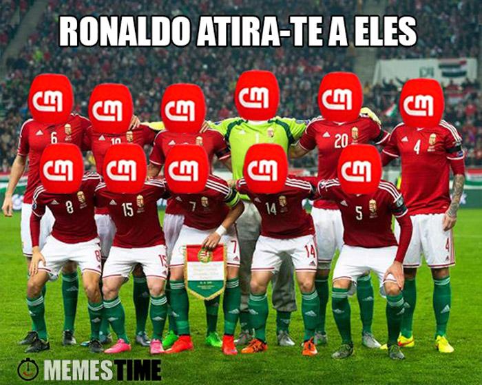 Meme Seleção da Hungria – Ronaldo atira-te a eles