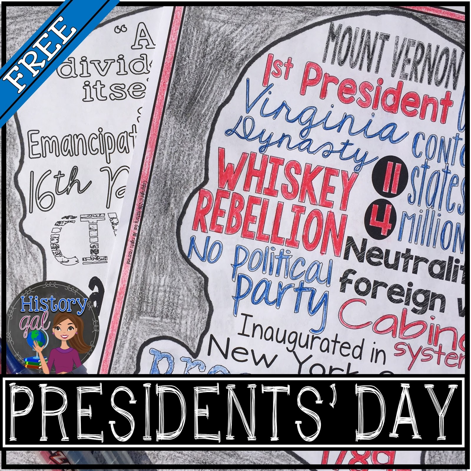 Free Presidents' Day Activity by History Gal