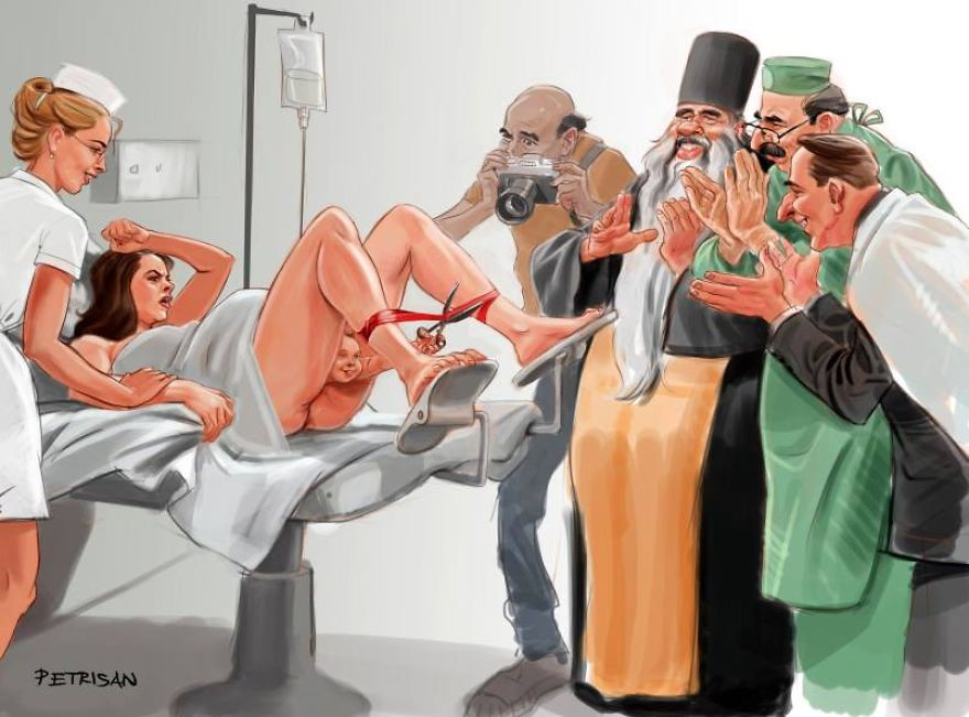 These 12 Satirical Cartoons Depict The Disturbing Reality Of Modern-Day Society - The Opening Ceremony Of Life
