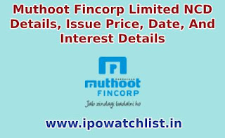 muthoot fincorp ncd details