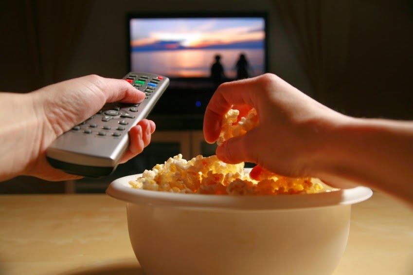 الأكل أمام التلفاز