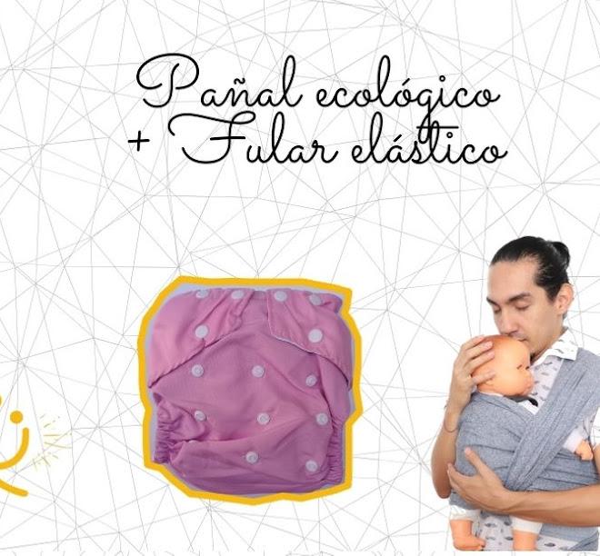 Fular elástico + pañal ecológico