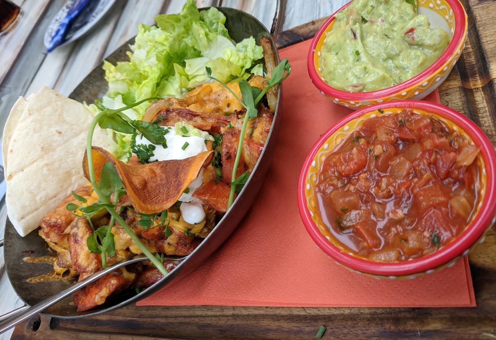 Fajitas from Pops American Diner in Wassenaar