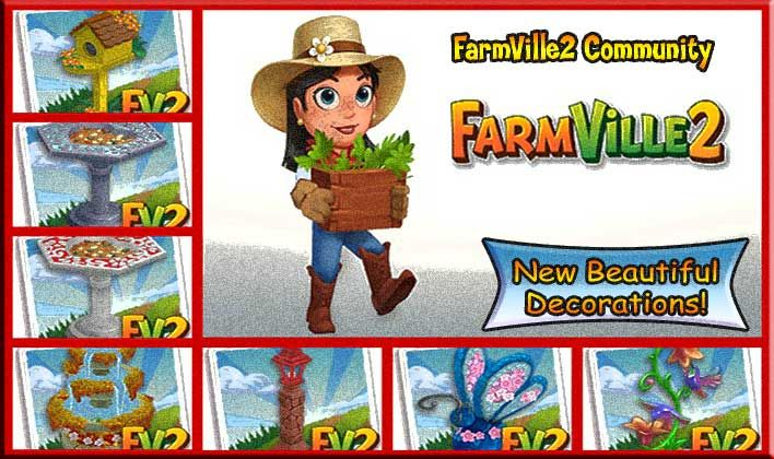 New beautiful decorations coming soon farmville 2 for Farmville 2 decorations