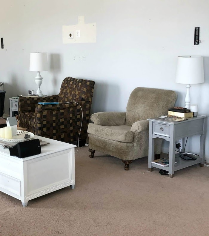 Gray wash end tables