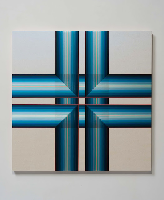 Untitled (Blue Cross) by Brian Wills, 2013
