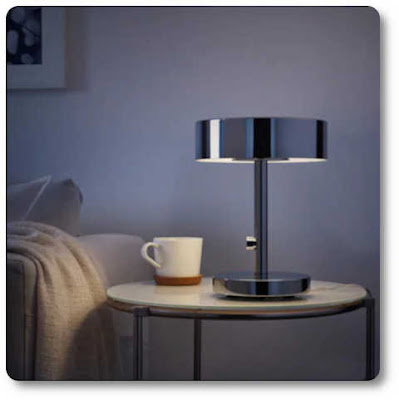 Chrome bedroom lamp with led bulb