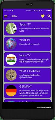 تحميل HDtv التطبيق الافضل لسنة 2019 لمشاهدة جميع قنوات العالم المشفرة مجانا على أجهزة الاندرويد