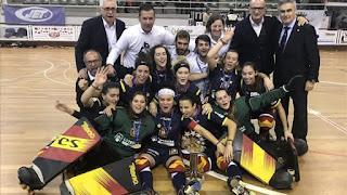 HOCKEY PATINES - Campeonato de Europa femenino 2018 (Mealhada, Portugal): A pesar de la espera, España ya cosecha el sexto europeo en sus vitrinas