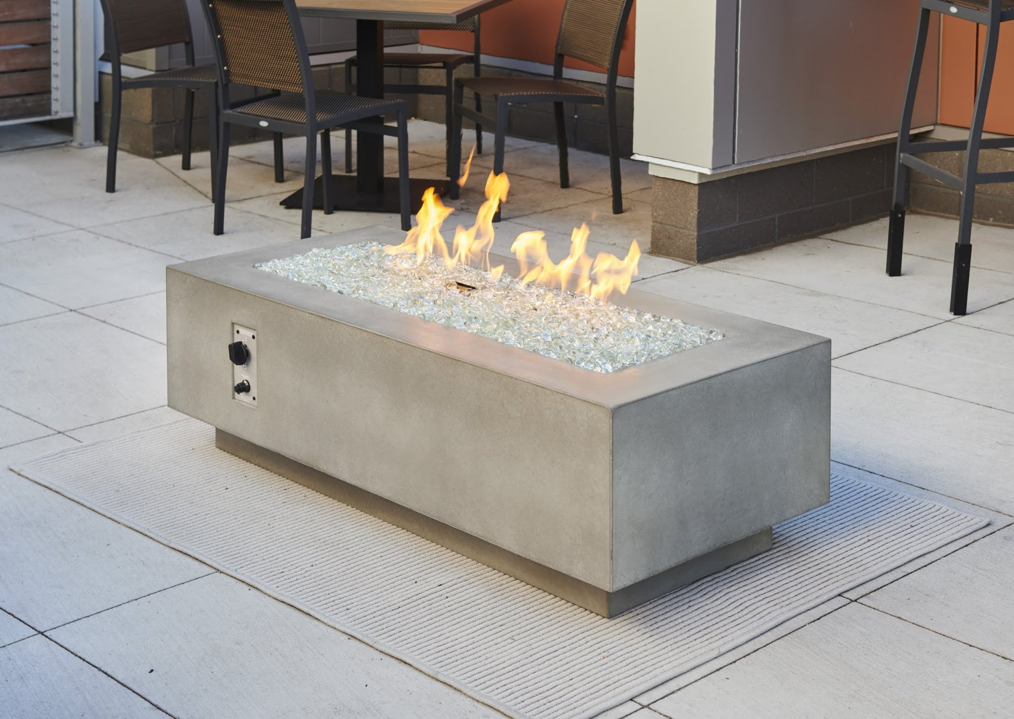 """The Cove 54"""" Linear Gas Fire Pit Table"""