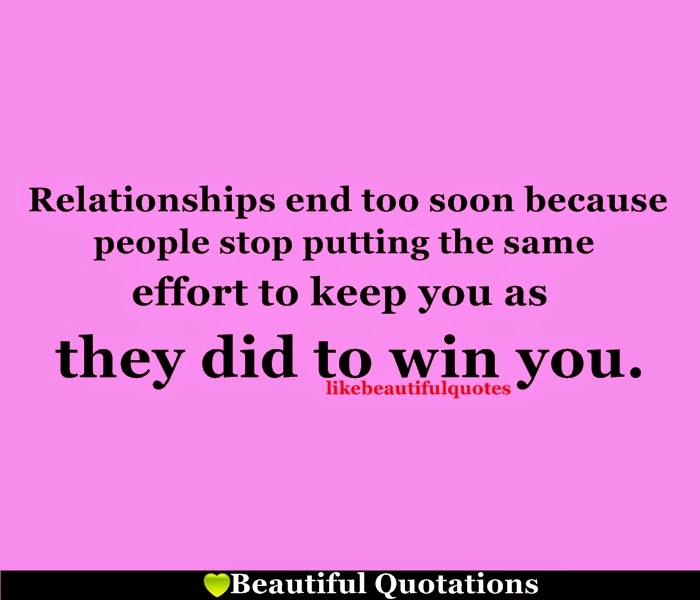 Relationship End Too Soon | Beautiful Quotations