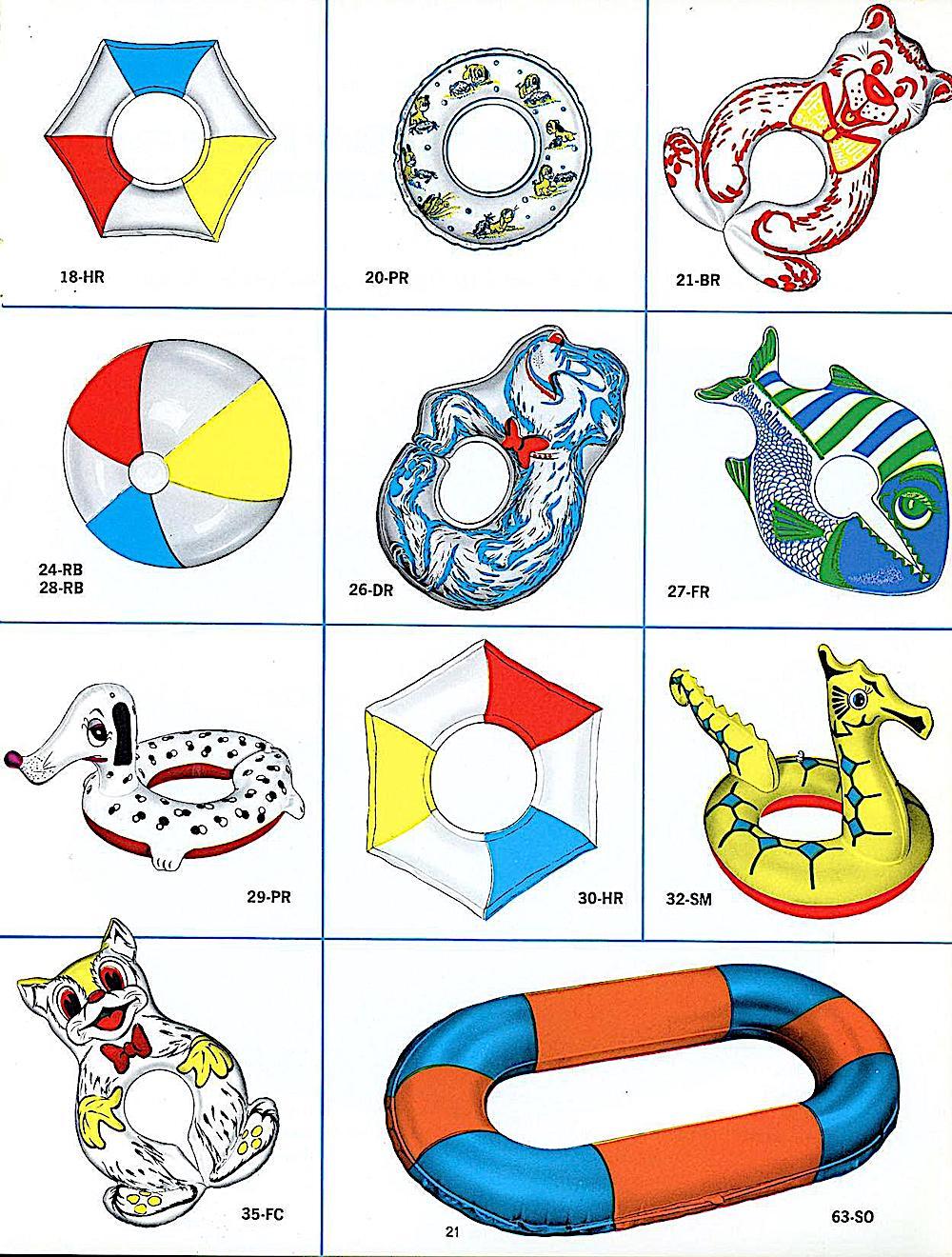 1969 beach inflatables