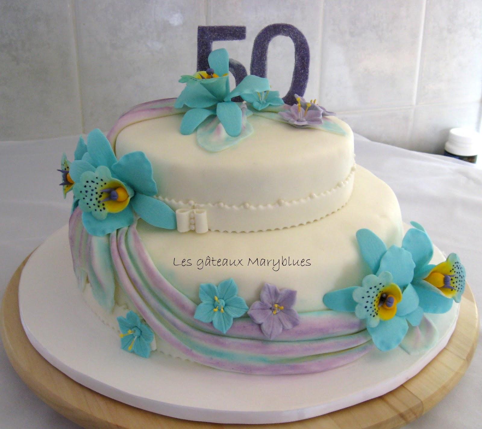 Les g teaux maryblues 50 ans de mariage for 50 robes de mariage anniversaire