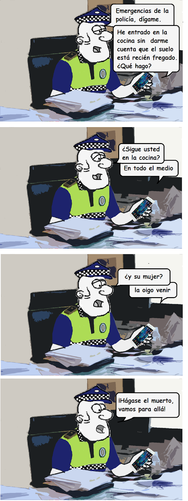 chiste de policias