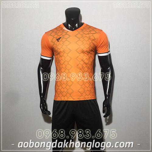 Áo bóng đá ko logo TA NC màu cam