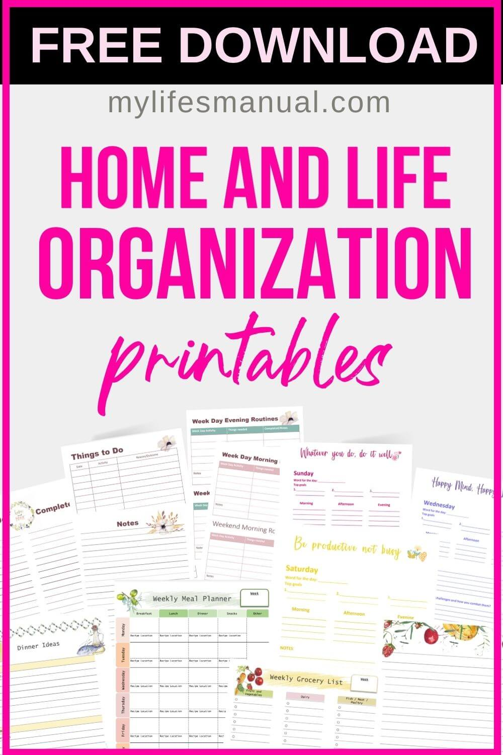 Printable PlanneLooking for free planner printables to help you with organizing and planning? Planners are a great help in managing home and life. You can use planner pages in everything! Using planners, you will be organized which will result in less stress and overwhelm! We have printable planner pages for different life categories that you can download for free. You can print out multiple pages to create your own binder or add these free planner pages to your existing planners.r Pages Free